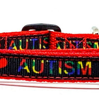 "Autism cat or small dog collar 1/2"" wide adjustable handmade bell or leash - Furrypetbeds"