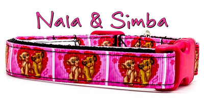 Nala & Simba dog collar handmade adjustable buckle collar 5/8