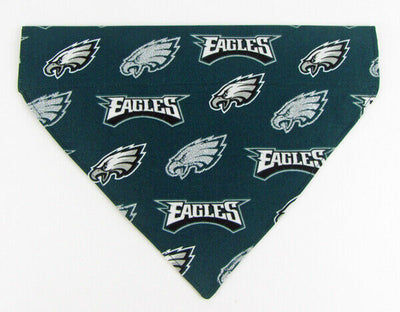 Eagles Dog Bandana Over the Collar dog bandana Dog collar bandana football - Furrypetbeds