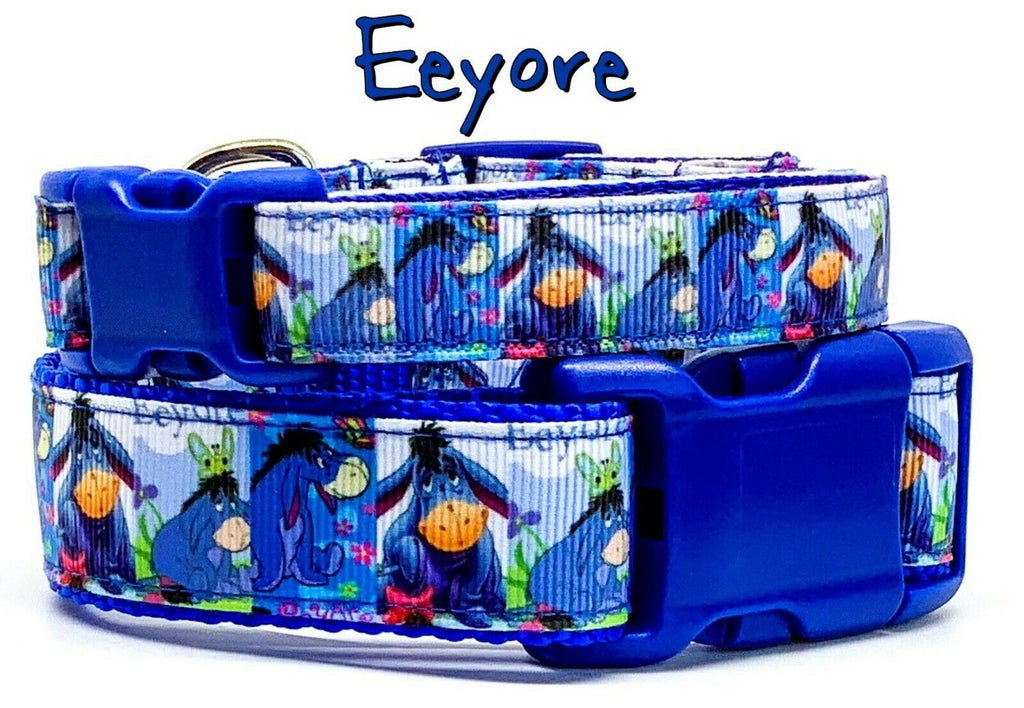 "Eeyore dog collar Winnie The Poo Handmade adjustable buckle 1"" or 5/8"" wide - Furrypetbeds"