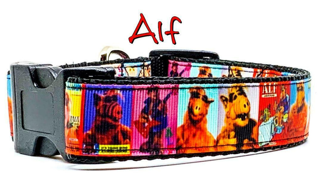 "Alf Movie dog collar handmade adjustable buckle collar 1"" or 5/8"" wide or leash - Furrypetbeds"