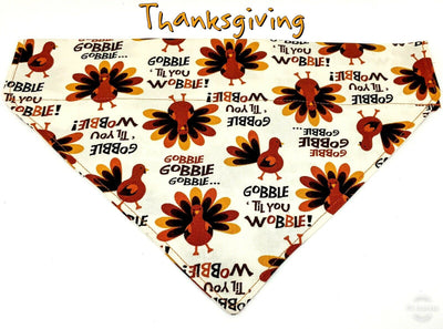 Thanksgiving Dog Bandana, Over the Collar dog bandana Dog collar bandana puppy - Furrypetbeds