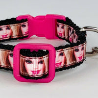 "Barbie cat or small dog collar 1/2"" wide adjustable handmade bell Or leash - Furrypetbeds"