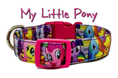 My Little Pony dog collar handmade adjustable buckle collar 5/8