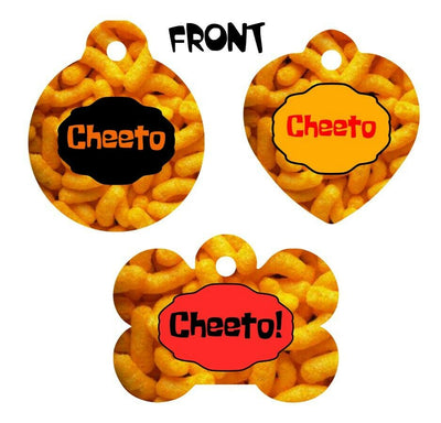 Pet ID Tag CHEETOS Personalized Custom Double Sided Pet Tag w/name & number - Furrypetbeds
