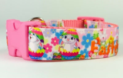 Easter dog collar handmade 12.00 all sizes adjustable buckle collar 1