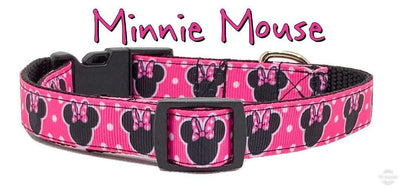 Minnie Mouse Dog collar handmade adjustable buckle collar 5/8