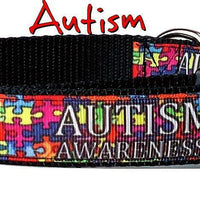 "Autism Awareness Key Fob Wristlet Keychain 1""wide Zipper pull Camera strap - Furrypetbeds"