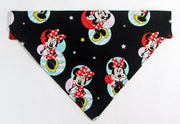 Minnie Mouse Dog Bandana Over the Collar dog bandana Dog collar bandana puppy - Furrypetbeds