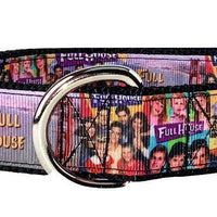 "Full House Dog collar handmade 12.00 all sizes adjustable buckle 1""wide or leash - Furrypetbeds"