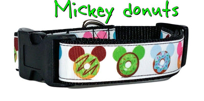Mickey Donuts dog collar handmade adjustable buckle collar 1
