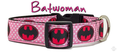 Batgirl dog collar handmade $12 all sizes adjustable buckle collar 1