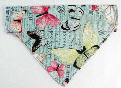 Butterflies Dog Bandana, Over the Collar dog bandana, Dog collar bandana, puppy - Furrypetbeds