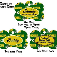 "Packers dog collar handmade adjustable buckle collar football 1"" wide or leash - Furrypetbeds"