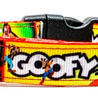 "Goofy dog collar handmade adjustable buckle collar 5/8""wide or leash - Furrypetbeds"