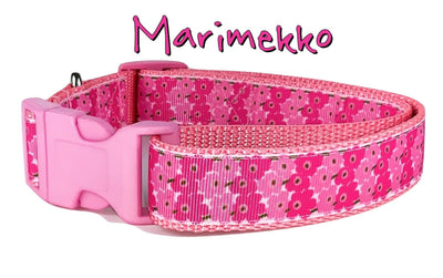 Marimekko Flowers dog collar handmade adjustable buckle 1