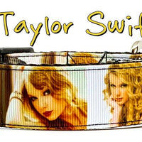 "Taylor Swift dog collar Handmade adjustable buckle 1""wide or leash  Country Pop - Furrypetbeds"