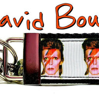 "David Bowie Key Fob Wristlet Keychain 11/4""wide Zipper pull Camera strap - Furrypetbeds"