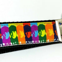 "The Beatles Key Fob Wristlet Keychain 1""wide Zipper pull Camera strap handmade - Furrypetbeds"