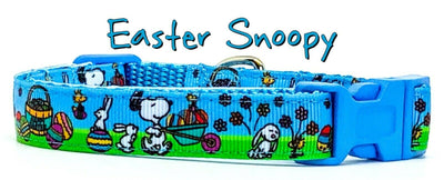Easter Snoopy dog collar handmade adjustable buckle collar 5/8