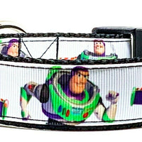 "Toy Story Buzz Lightyear dog collar handmade adjustable buckle collar 1"" wide - Furrypetbeds"