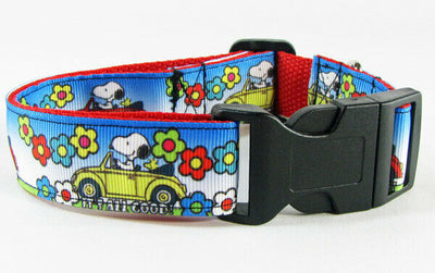 Snoopy dog collar handmade 12.00 all sizes adjustable buckle collar 1
