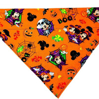 Mickey Halloween Dog Bandana Over the Collar dog bandana Dog collar bandana - Furrypetbeds