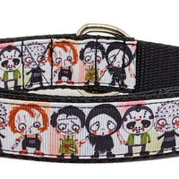 "Horror characters dog collar handmade adjustable buckle collar 1""wide leash - Furrypetbeds"