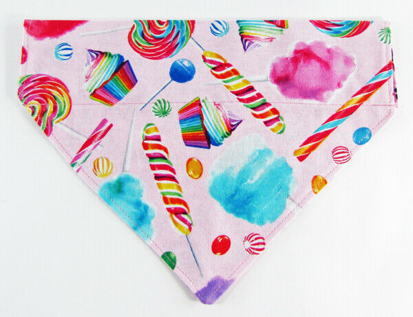 Candy Dog Bandana, Over the Collar dog bandana, Dog collar bandana, puppy - Furrypetbeds