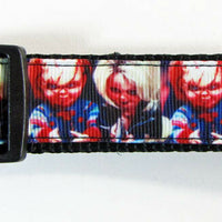 "Chucky dog collar, handmade, adjustable, buckle collar,1"" wide, leash - Furrypetbeds"