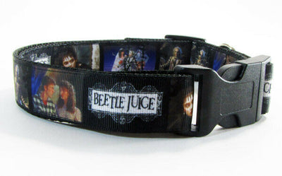 Beetlejuice dog collar handmade adjustable buckle collar 1