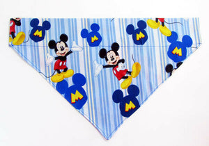 Mickey Mouse Dog Bandana, Over the Collar dog bandana, Dog collar bandana,puppy - Furrypetbeds