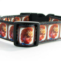 "Chucky dog collar handmade 12.00 all sizes adjustable buckle collar 1""wide leash - Furrypetbeds"