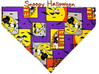 Snoopy Halloween Dog Bandana Over the Collar dog bandana Dog collar bandana - Furrypetbeds