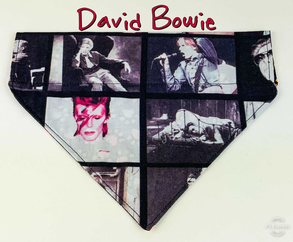 David Bowie Dog Bandana Over the Collar dog bandana scarf puppy collar bandana - Furrypetbeds