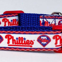 "Phillies dog collar adjustable buckle collar 5/8""wide or leash - Furrypetbeds"