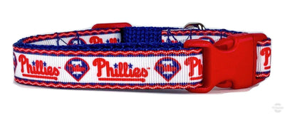 Phillies dog collar adjustable buckle collar 5/8