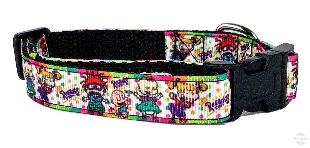 "Rugrats dog collar adjustable buckle collar 5/8""wide or leash - Furrypetbeds"