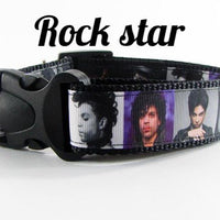 "Prince Dog collar Handmade adjustable buckle collar 1"" wide or leash - Furrypetbeds"
