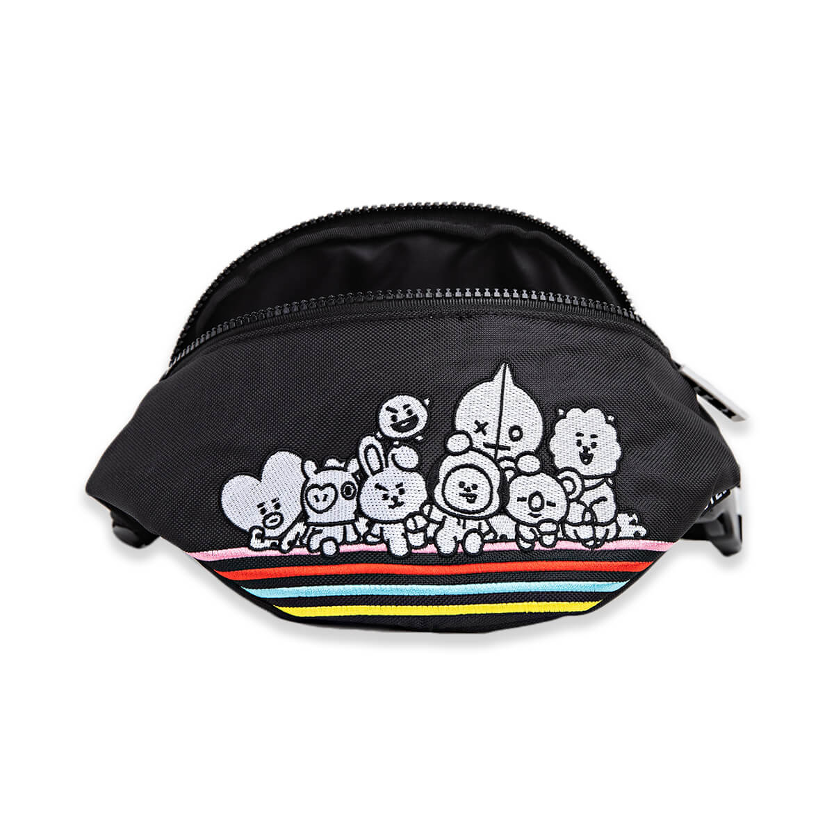 BT21 Group Embroidered Nylon Fanny Pack