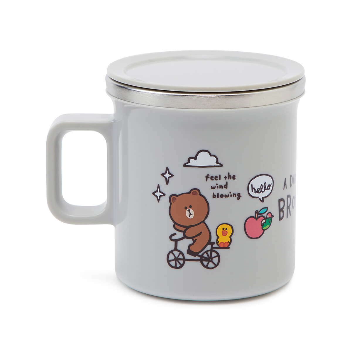 LINE FRIENDS A Day Of BROWN Stainless Cup