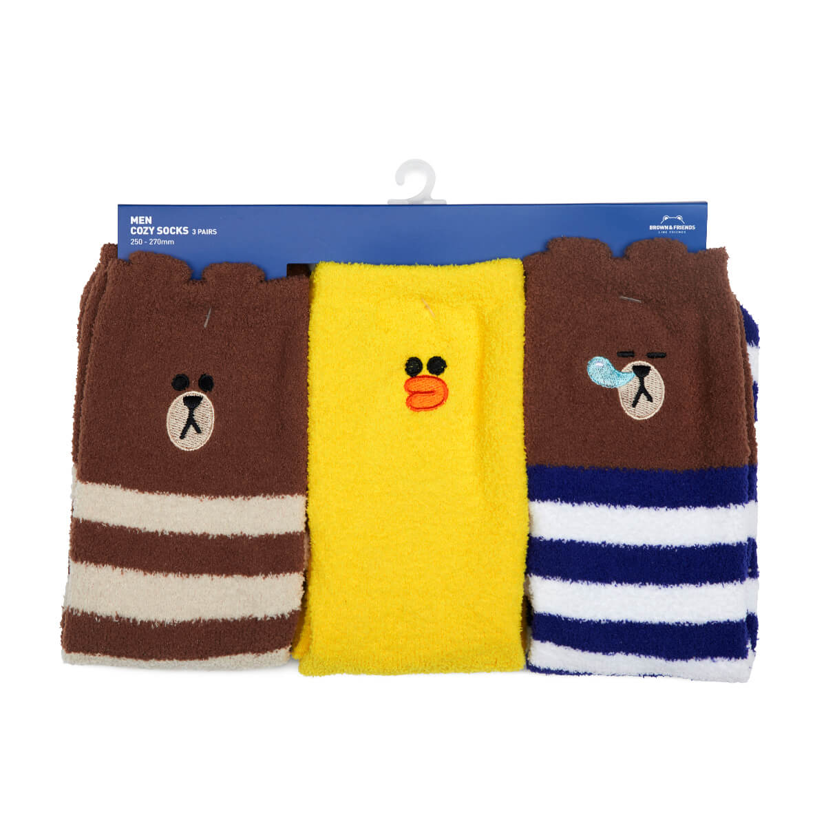 LINE FRIENDS BROWN & SALLY Sleep Socks Set (3)