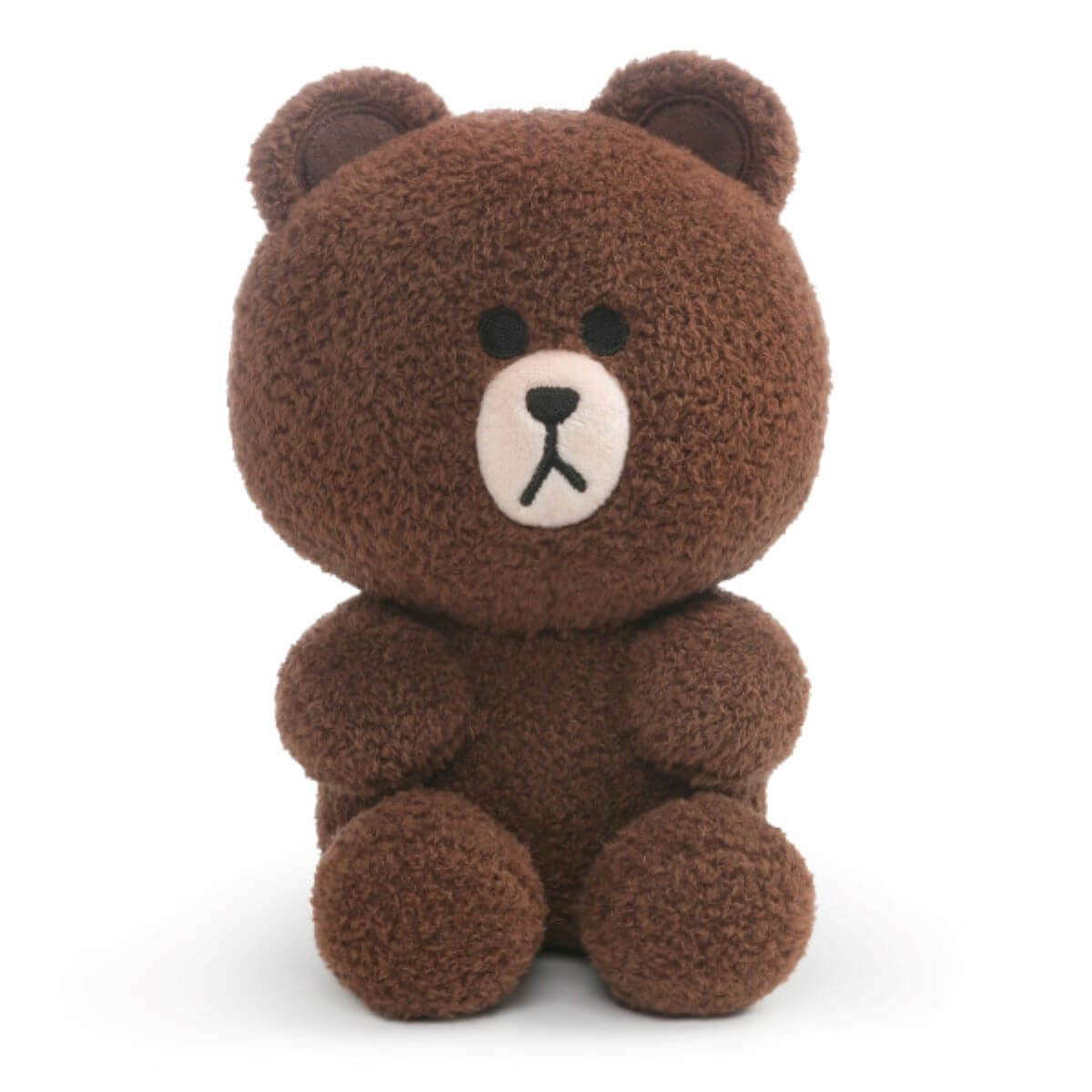 LINE FRIENDS BROWN Napped Sitting Plush Doll (S)