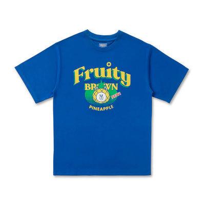LINE FRIENDS BROWN Fruity Pineapple T-Shirt Blue