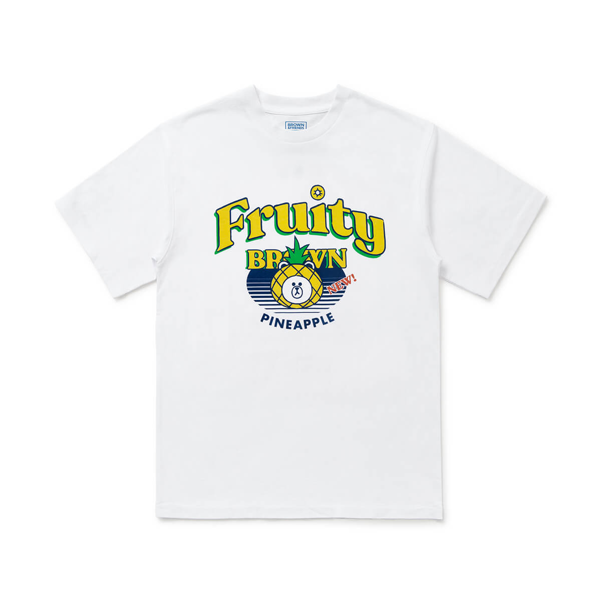 BROWN Fruity Pineapple T-Shirt White