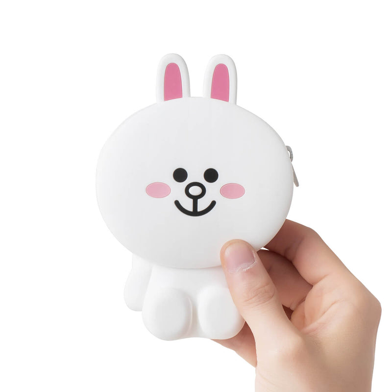 LINE FRIENDS CONY Silicone Zippered Card Wallet