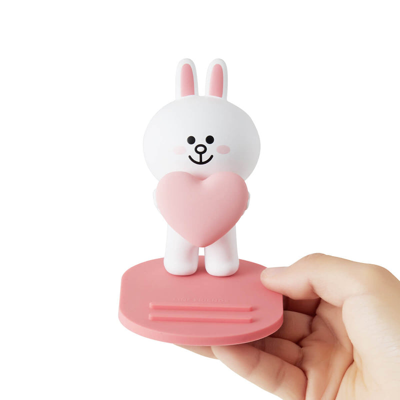 LINE FRIENDS CONY Heart Figurine Phone Holder