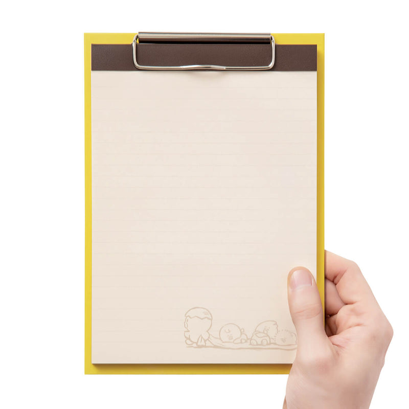 SALLY & FRIENDS Clip Board Notepad Set Yellow