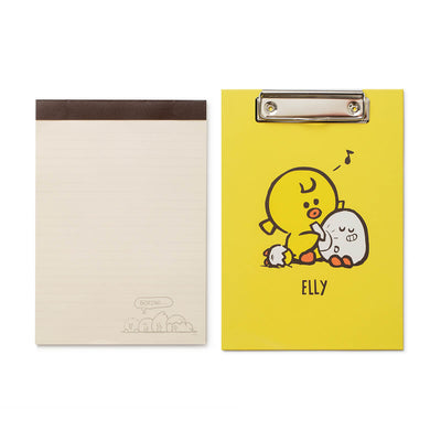 LINE FRIENDS SALLY FRIENDS Clip Board Notepad Set Yellow