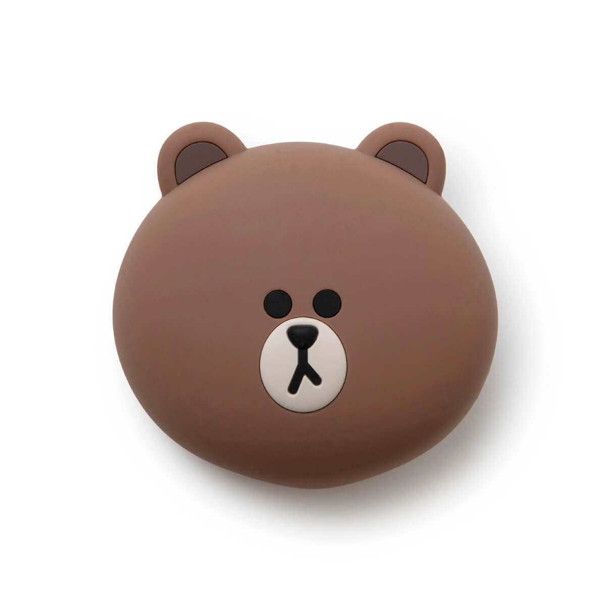 LINE FRIENDS BROWN Silicone Face Pouch